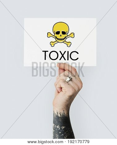 Toxic Caution Warning Skull Concept