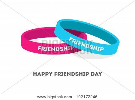 Two Friendship bands with text vector illustration.