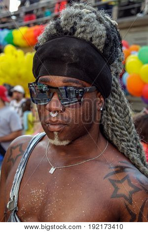 Young Man At Gay Pride Parade Sao Paulo
