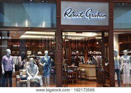 KING OF PRUSSIA, PA - MAY 6: Robert Graham store at King of Prussia Mall in Pennsylvania, as seen on May 6, 2017. It is the largest shopping mall in the United States of America in terms of leasable retail space.