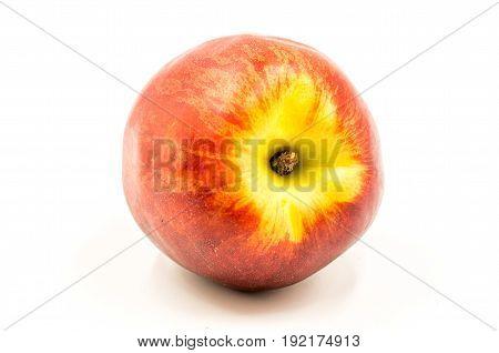 Nectarine On The White Background