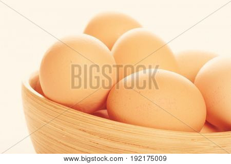 Close - up of eggs in bowl