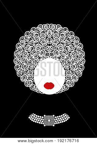 shop logo luxury fashion woman . Company jewellery design