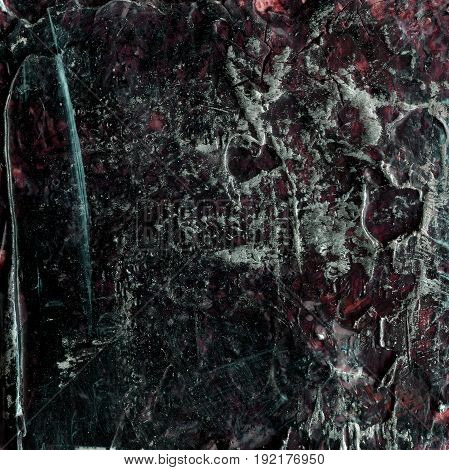 Abstract old brown and silver painted acrylic or oil paints texture for background. Modern acrylic oil art. Grunge dirty hand drawn painting on canvas texture for vintage backdrop