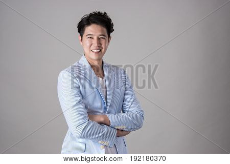 Portrait of a happy Asian business man