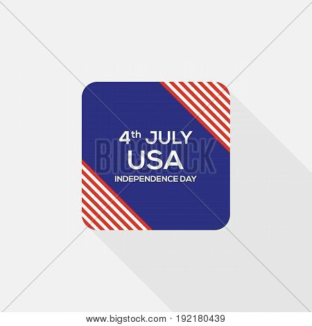 4th of July independence day United States of America icon flat design vector illustration