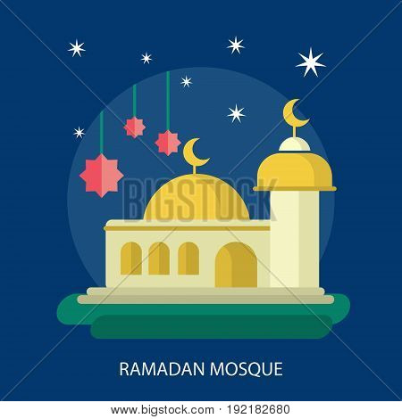 Ramadan Mosque Conceptual Design | Set of great flat design illustration concepts for religion, ramadan, islamic and much more.
