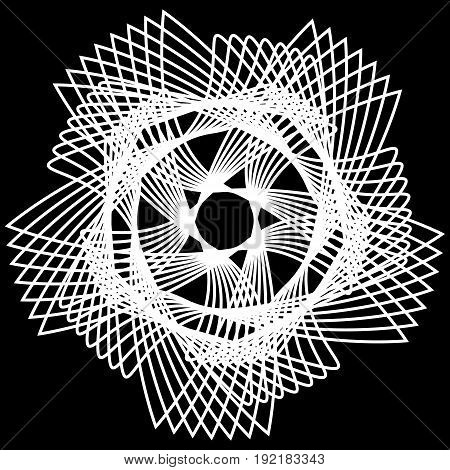 Geometric pattern symmetry symbol fractale pentogramm astrology