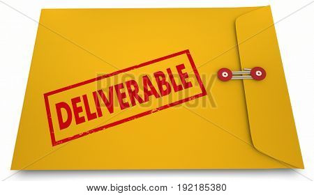 Deliverable Result Product Development Process Envelope, 3d Illustration