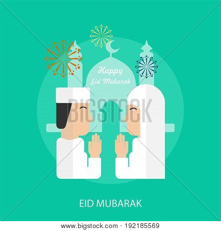 Eid Mubarak Conceptual Design | Set of great flat design illustration concepts for religion, ramadan, islamic and much more.