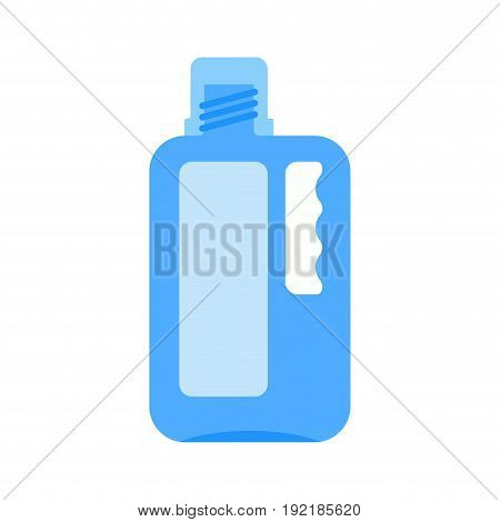 Bottle Of Bleach Isolated. Cleaner On White Background