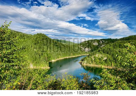 mountain lake and forest in Montenegro