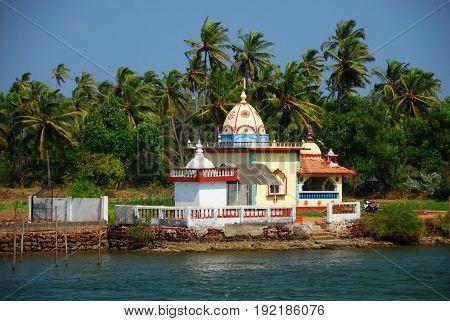 A Hindu Temple in Candolim Goa India