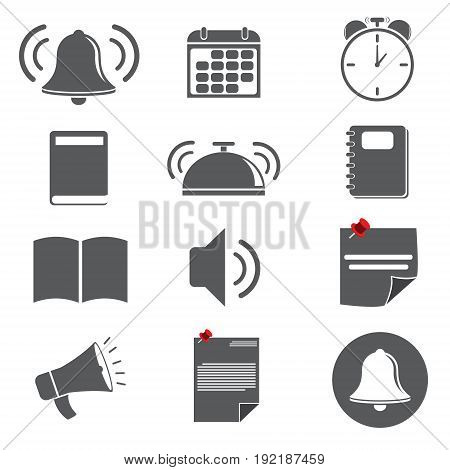 business icon about reminder concept. vector illustration.