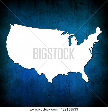USA Art map