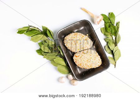 Raw Food, Chicken Cutlet Ready For Prepare