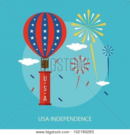 USA Independence Conceptual Design | Set of great flat design illustration concepts for region, state, usa, independence and much more.