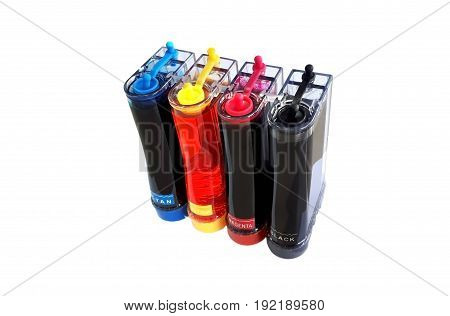 Refill ink tank for a printer isolated