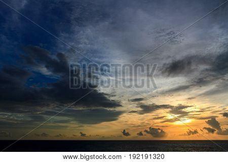 Beautiful cloud and sky in sunset time