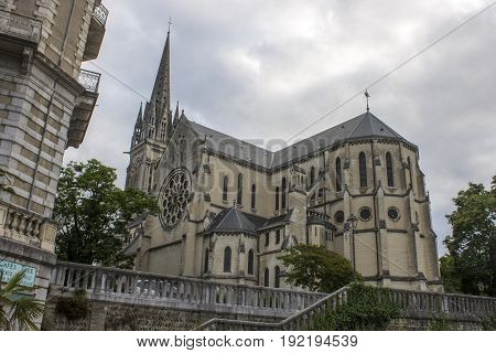 The Church of Saint-Martin in Pau, a French commune on the northern edge of the Pyrenees.