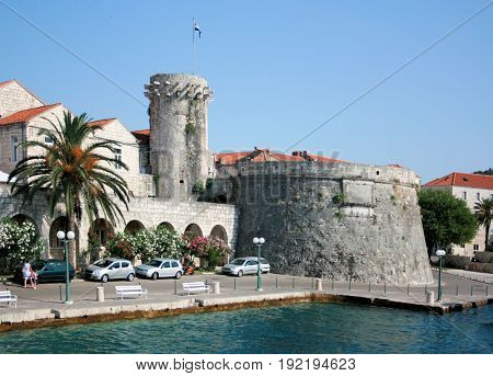 view taken from the ferry, Korcula, Croatia