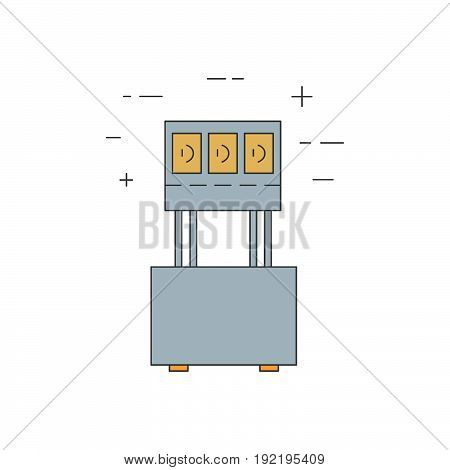 Hot Display Isolated Line Icon.