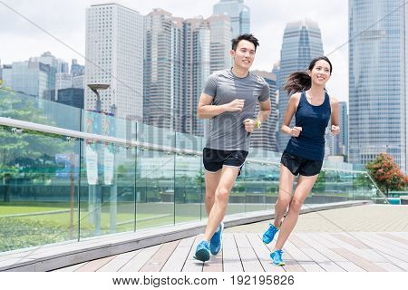 Friends go for run together