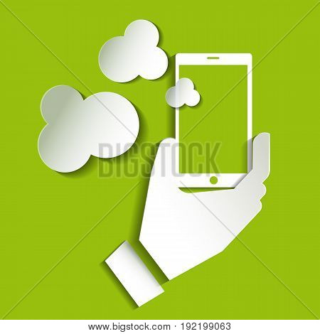 Smartphone icon vector Smartphone icon web Smartphone photo . Smartphone icon object. Taking a selfie photo flat design on green background