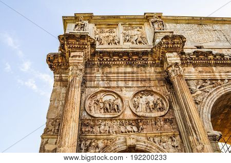 Hdr Arch Of Constantine Rome