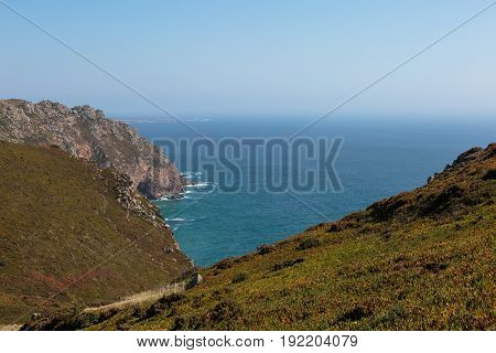 Cabo da Roca Coastline the Western Point of Europe Portugal