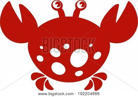 Crab. Stylized vector image on white background