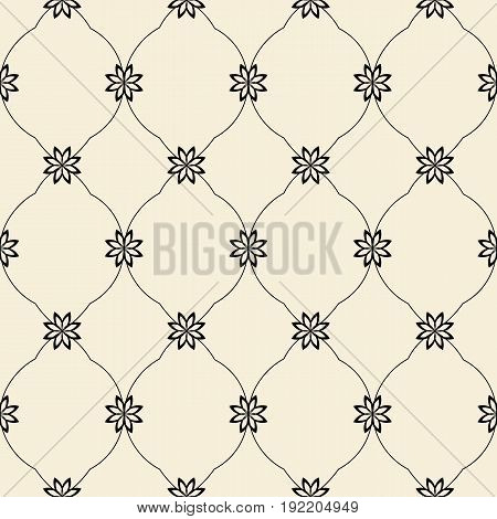 Modern stylish floral flower pattern for textile wallpaper pattern fills covers surface print gift wrap scrapbook decoupage Seamless abstract classic pattern