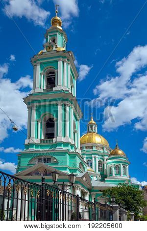 Moscow Russia - June 20 2017: Epiphany Cathedral on the street Spartakovskaya in Moscow Russia.