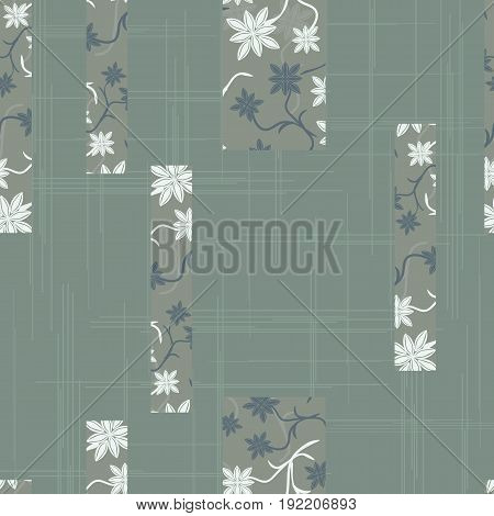 Vintage ornament in the style of Damask. Seamless dark background for textile wallpaper pattern fills covers surface print gift wrap packaging paper tile