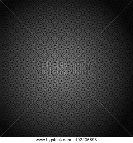 Dark Carbon metallic texture. Black Pattern background.