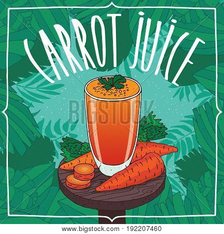 Healthy Fresh Carrot Juice With Root Vegetables