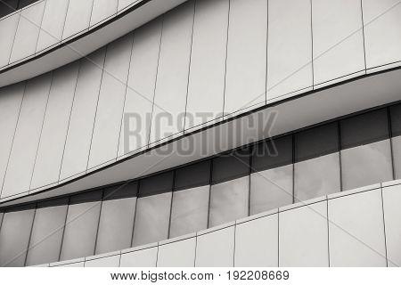 Design outdoor facade of moden architectural building.