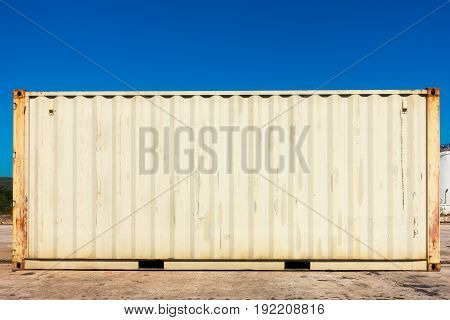 Handling stack of container shipping., Business transportation