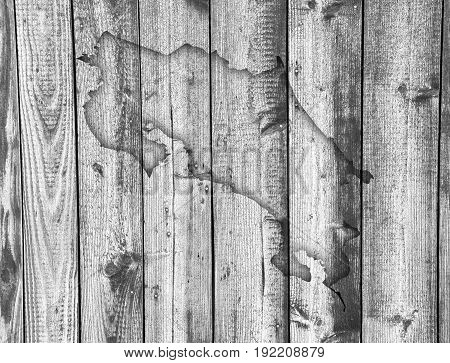 Map Of Costa Rica On Weathered Wood