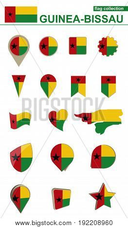 Guinea-bissau Flag Collection. Big Set For Design.