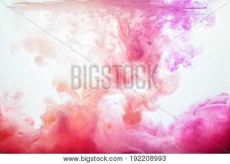 Flow of colorful paint background. Abstract picture