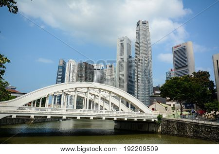 Modern Buildings At Downtown In Singapore