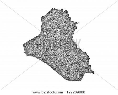Map Of Iraq On Poppy Seeds