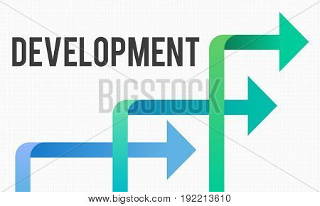 Arrow Sign Icon with Business Concept Word