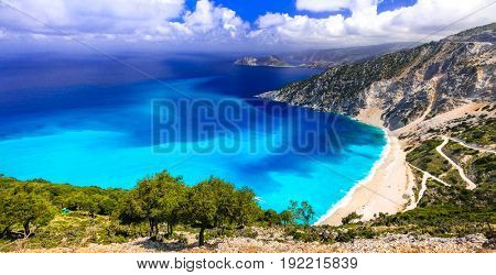 amazing beaches of Greece series - Myrtos in Kefalonia