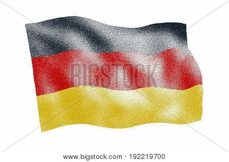 Flag of Germany - Vector stippled illustration
