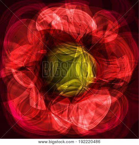 Twirl luminous light red yellow background for design