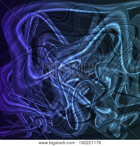 Twirl luminous light blue background for design