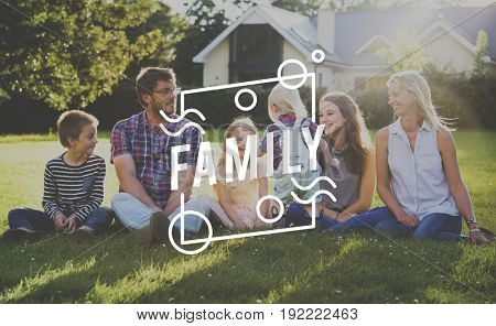 Family Happiness Memorable Outdoors Square Frame