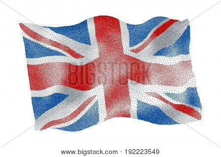 Flag of the UK - Vector stippled illustration